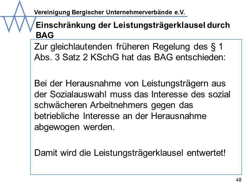 Einschränkung der Leistungsträgerklausel durch BAG