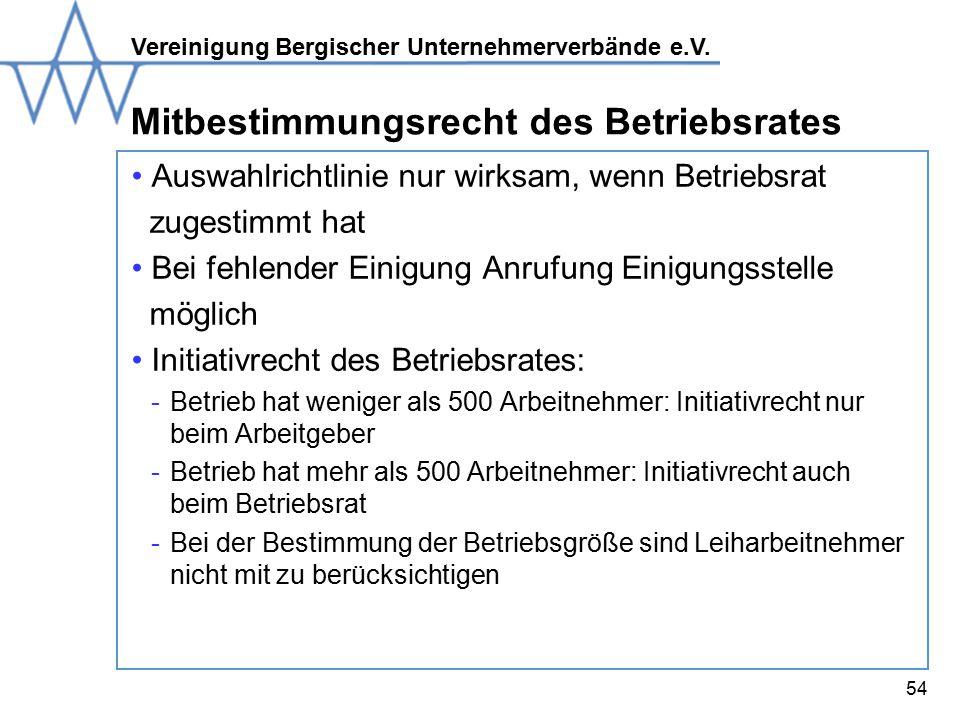 Mitbestimmungsrecht des Betriebsrates