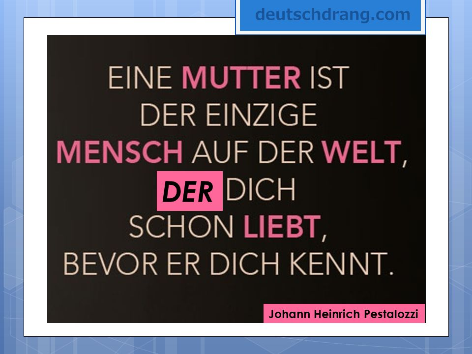 deutschdrang.com DER Johann Heinrich Pestalozzi