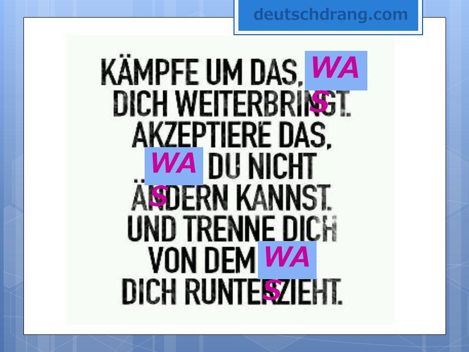 deutschdrang.com WAS WAS WAS