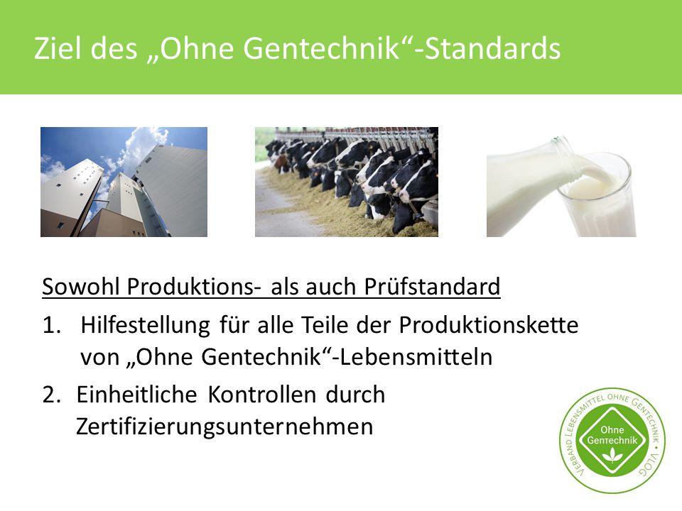 "Ziel des ""Ohne Gentechnik -Standards"