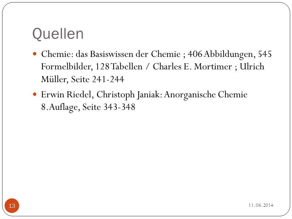 Quellen Chemie: das Basiswissen der Chemie ; 406 Abbildungen, 545 Formelbilder, 128 Tabellen / Charles E. Mortimer ; Ulrich Müller, Seite 241-244.