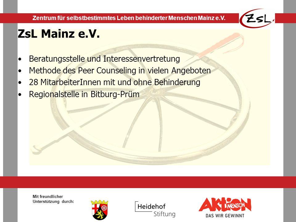 ZsL Mainz e.V. Beratungsstelle und Interessenvertretung