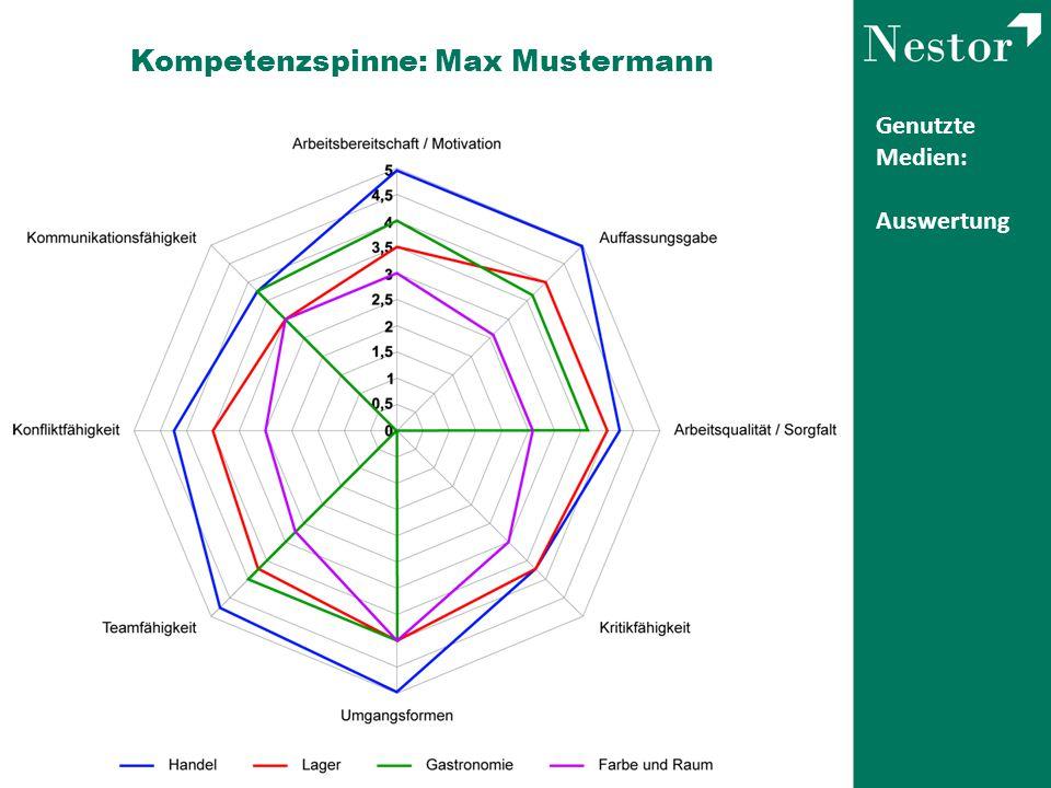 Kompetenzspinne: Max Mustermann
