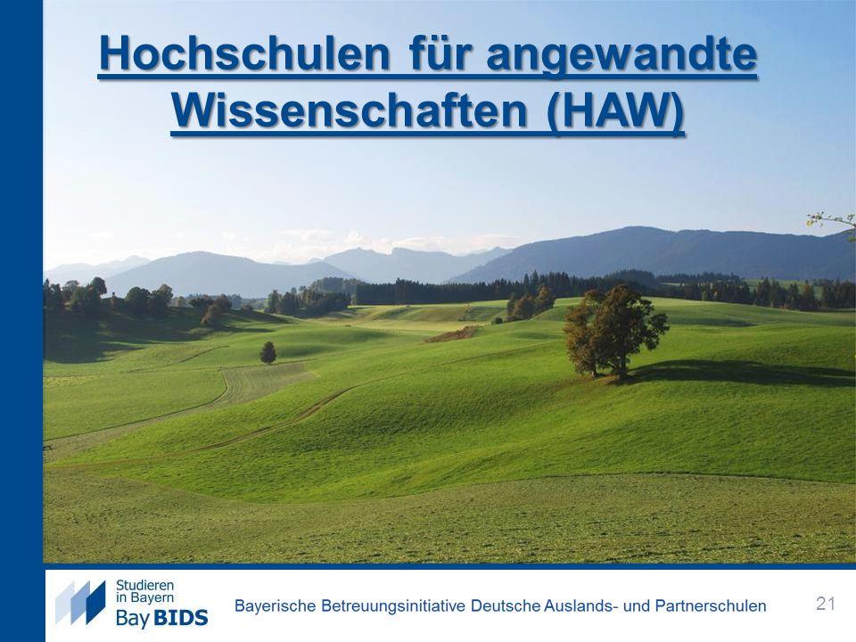 Hochschulen für angewandte Wissenschaften (HAW)