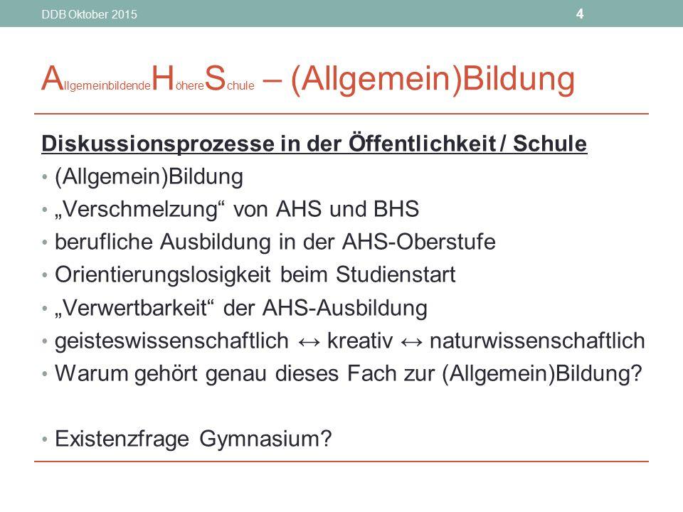 AllgemeinbildendeHöhereSchule – (Allgemein)Bildung