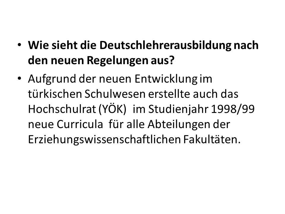 Wie sieht die Deutschlehrerausbildung nach den neuen Regelungen aus