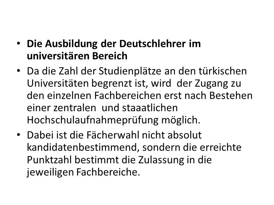 Die Ausbildung der Deutschlehrer im universitären Bereich