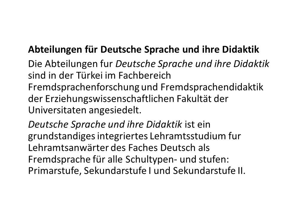 Abteilungen für Deutsche Sprache und ihre Didaktik