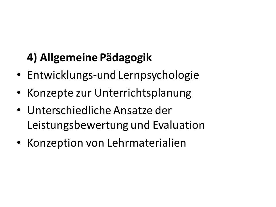 4) Allgemeine Pädagogik