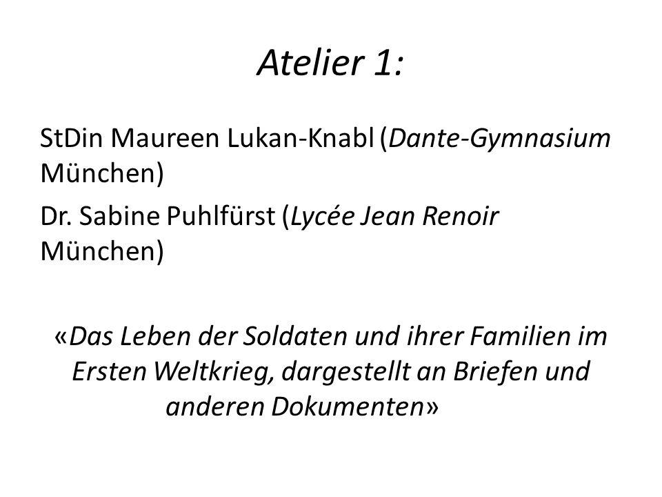 Atelier 1: StDin Maureen Lukan-Knabl (Dante-Gymnasium München)