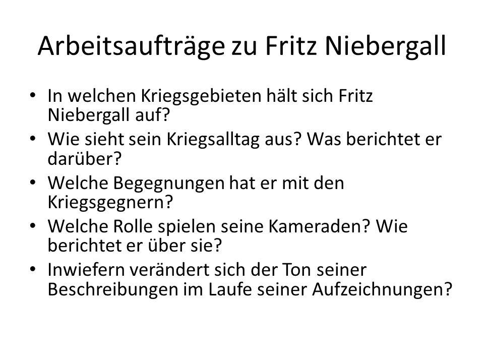 Arbeitsaufträge zu Fritz Niebergall
