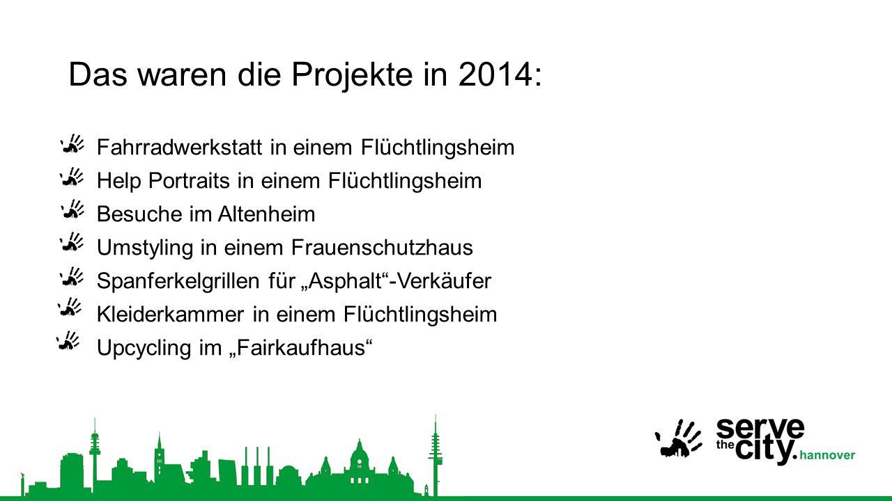 Das waren die Projekte in 2014: