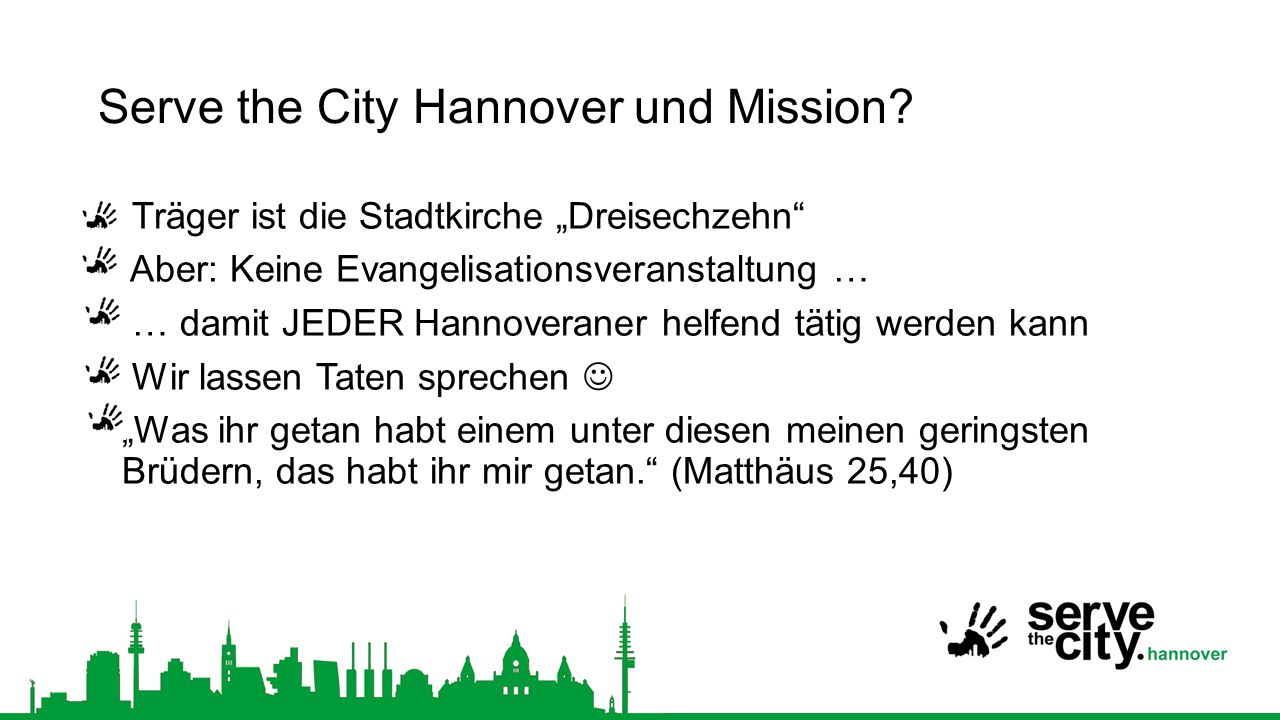 Serve the City Hannover und Mission