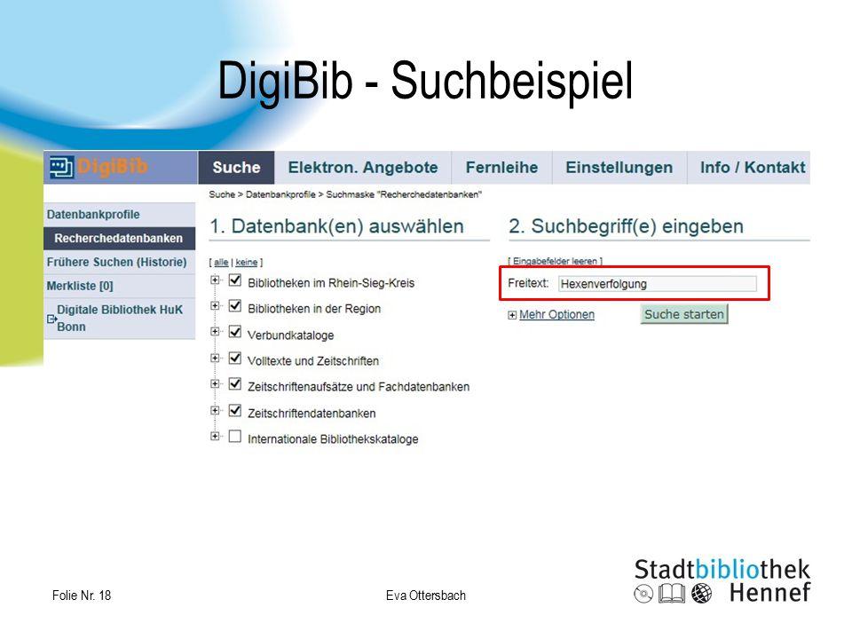 DigiBib - Suchbeispiel