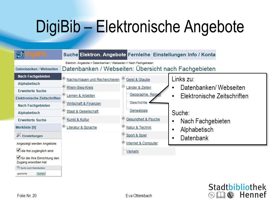 DigiBib – Elektronische Angebote