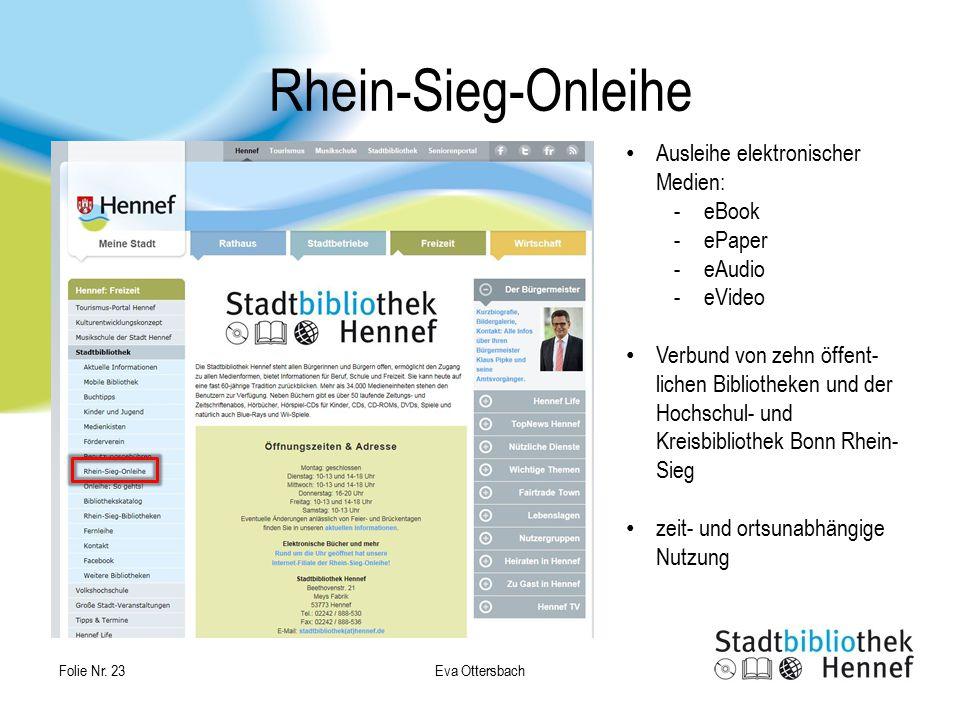 Rhein-Sieg-Onleihe Ausleihe elektronischer Medien: eBook ePaper eAudio