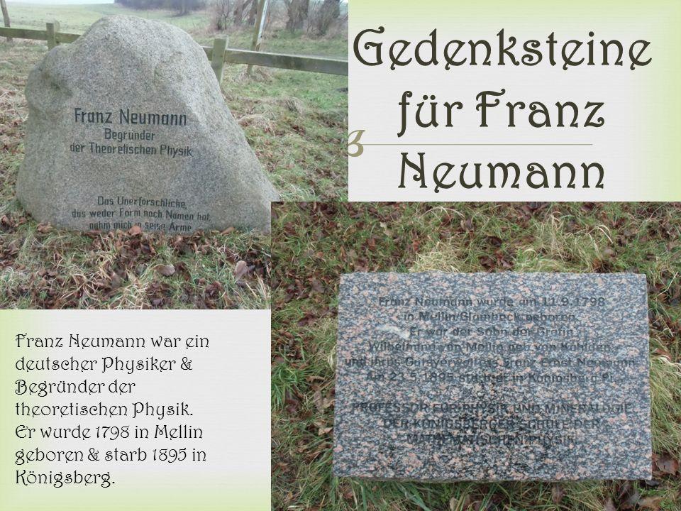 Gedenksteine für Franz Neumann