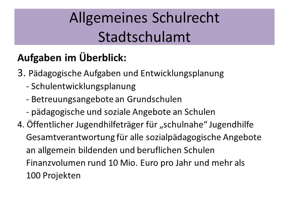 Allgemeines Schulrecht Stadtschulamt