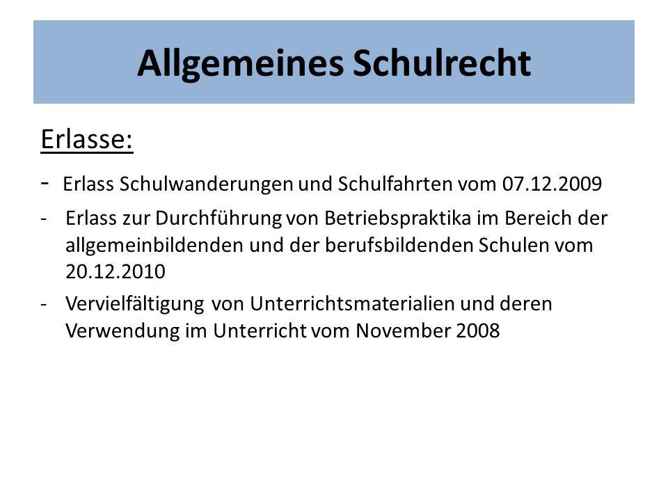 Allgemeines Schulrecht