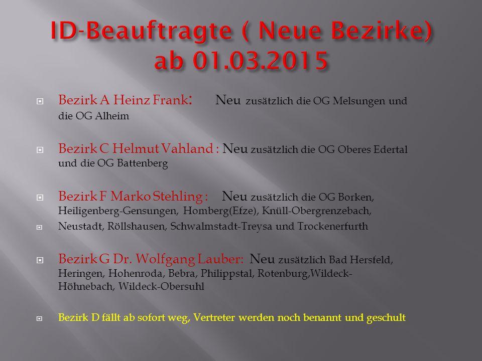 ID-Beauftragte ( Neue Bezirke) ab 01.03.2015