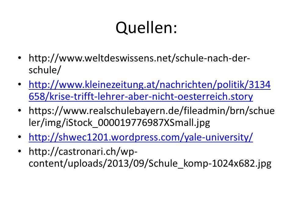 Quellen: http://www.weltdeswissens.net/schule-nach-der-schule/