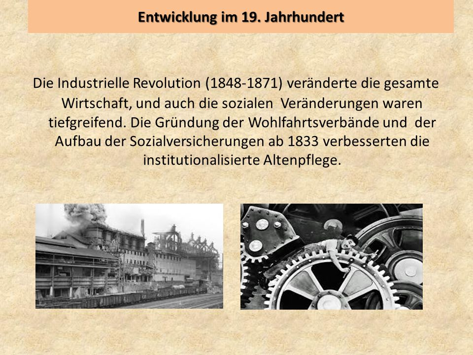 Entwicklung im 19. Jahrhundert