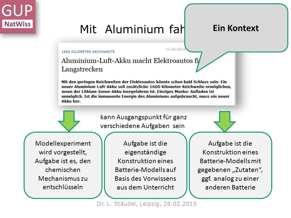 Mit Aluminium fahren Ein Kontext