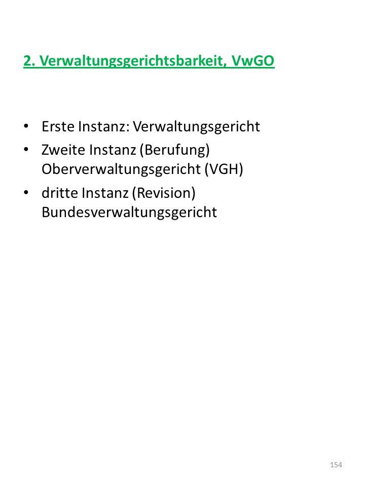 2. Verwaltungsgerichtsbarkeit, VwGO