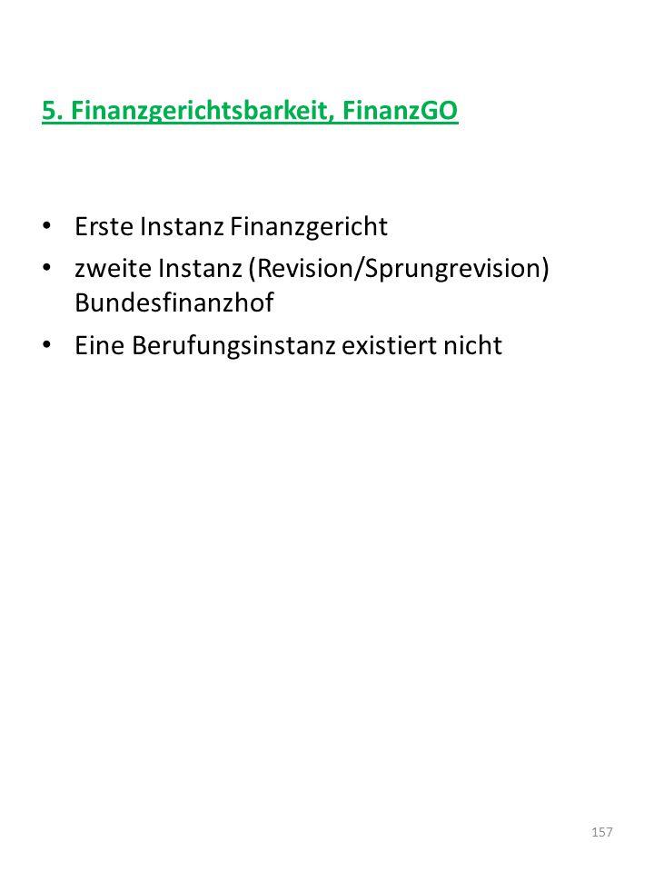 5. Finanzgerichtsbarkeit, FinanzGO