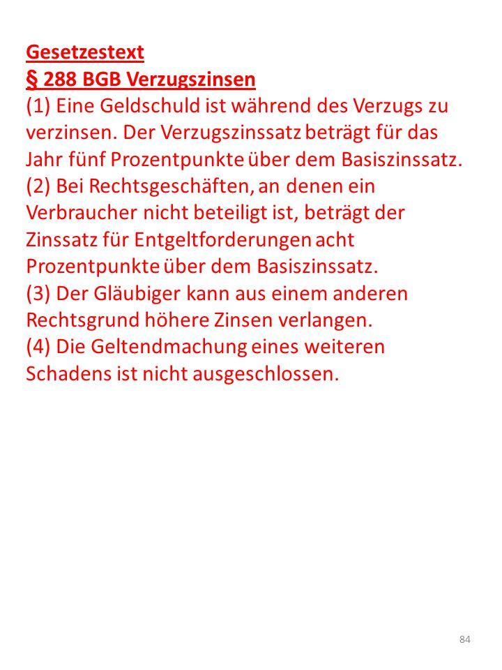 Gesetzestext § 288 BGB Verzugszinsen.