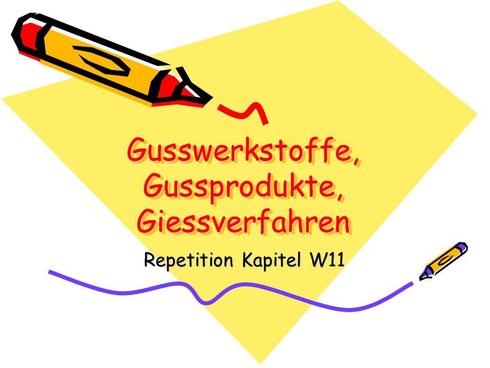 Gusswerkstoffe, Gussprodukte, Giessverfahren