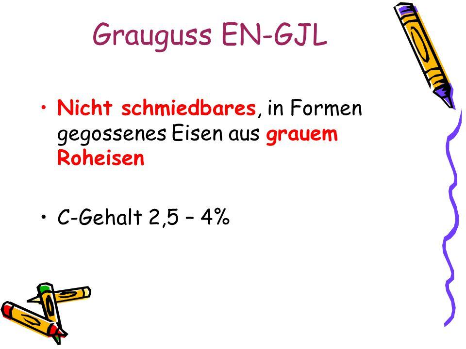 Grauguss EN-GJL Nicht schmiedbares, in Formen gegossenes Eisen aus grauem Roheisen.