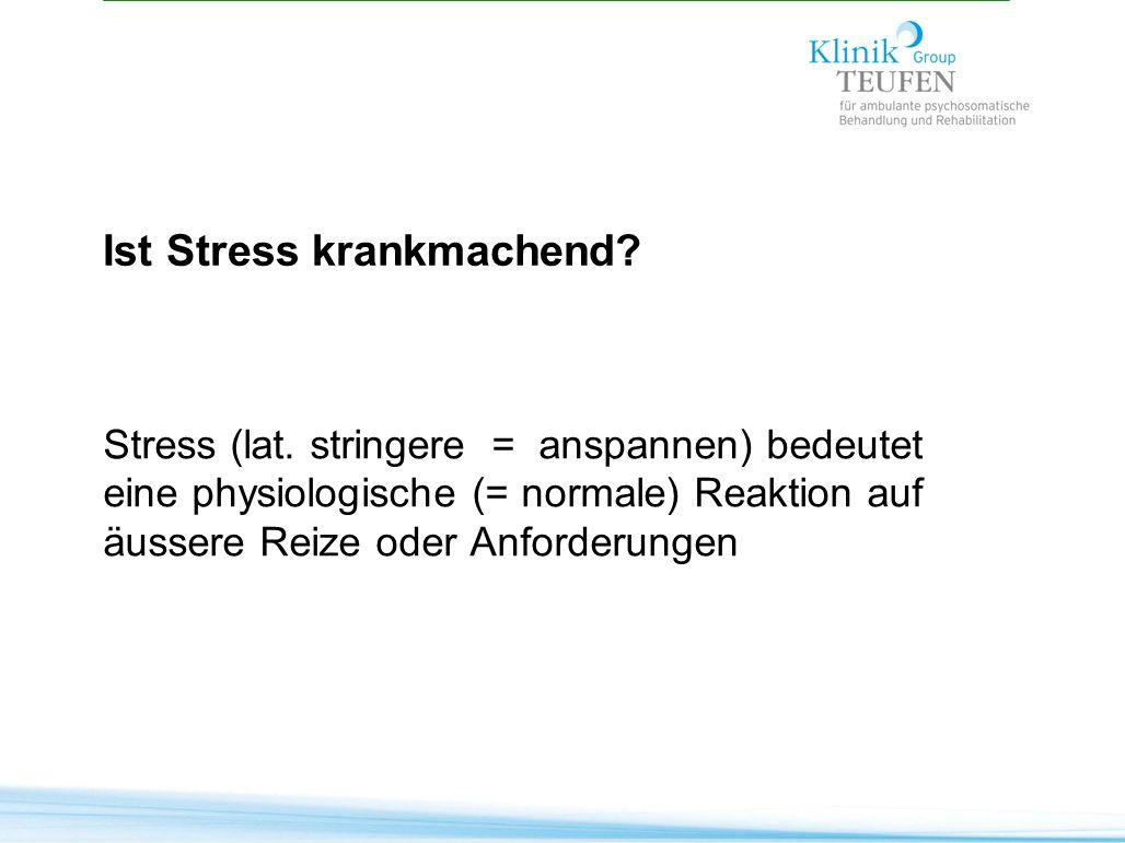 Ist Stress krankmachend