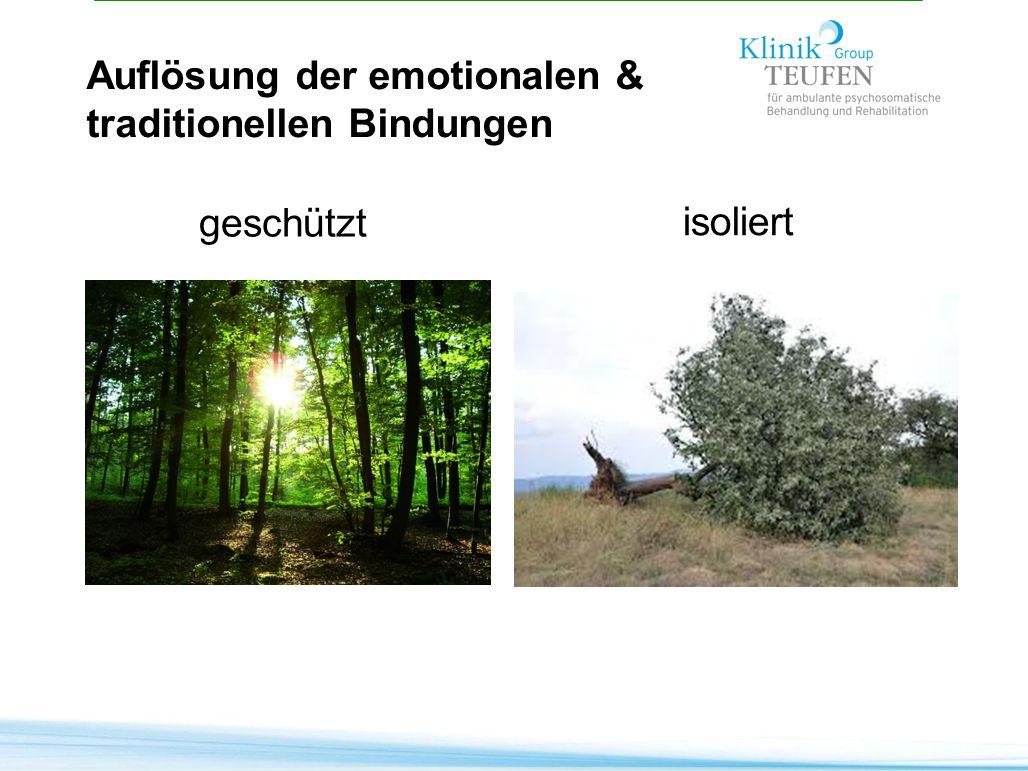 geschützt Auflösung der emotionalen & traditionellen Bindungen
