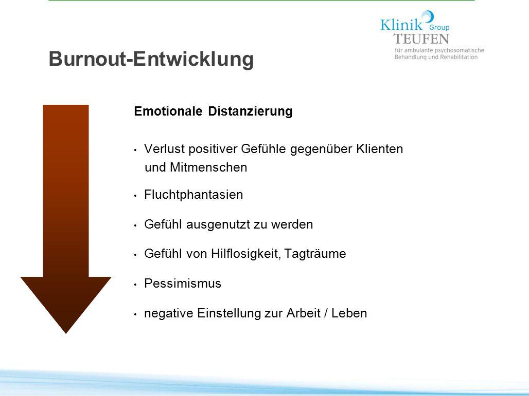 Burnout-Entwicklung Emotionale Distanzierung
