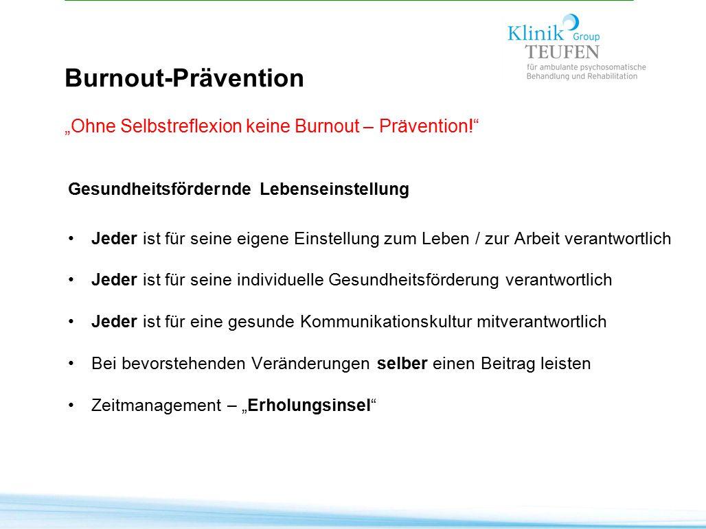 """Burnout-Prävention """"Ohne Selbstreflexion keine Burnout – Prävention!"""
