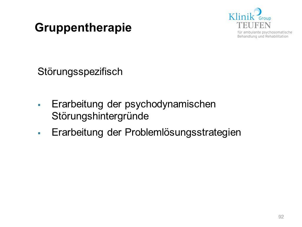 Gruppentherapie Störungsspezifisch