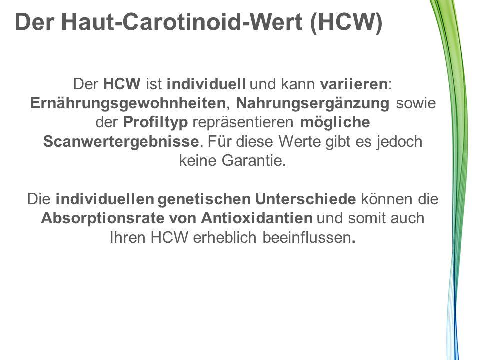 Der Haut-Carotinoid-Wert (HCW)