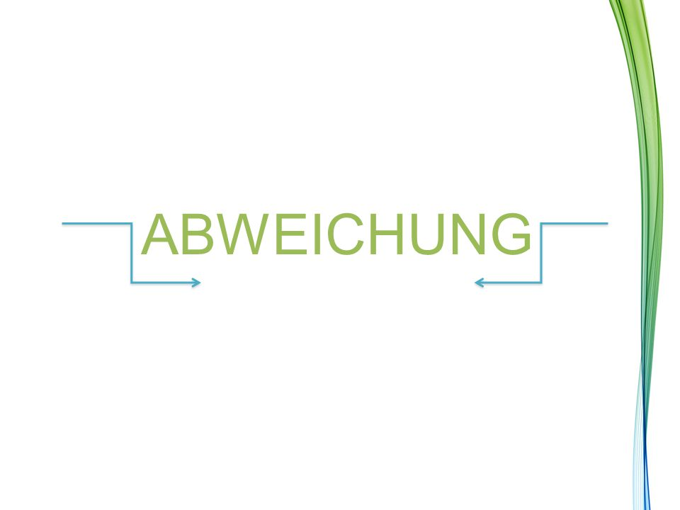 ABWEICHUNG