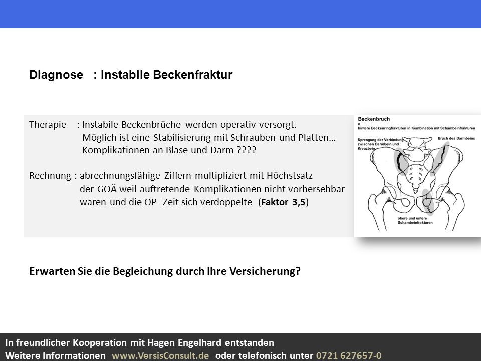 Diagnose : Instabile Beckenfraktur