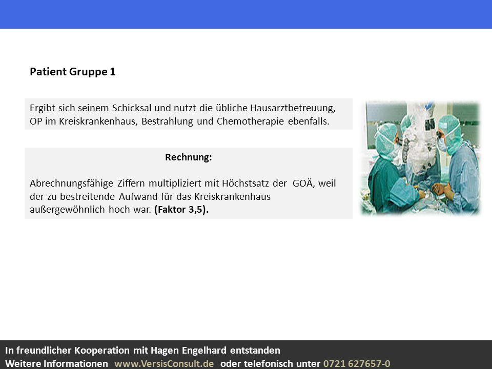 Patient Gruppe 1
