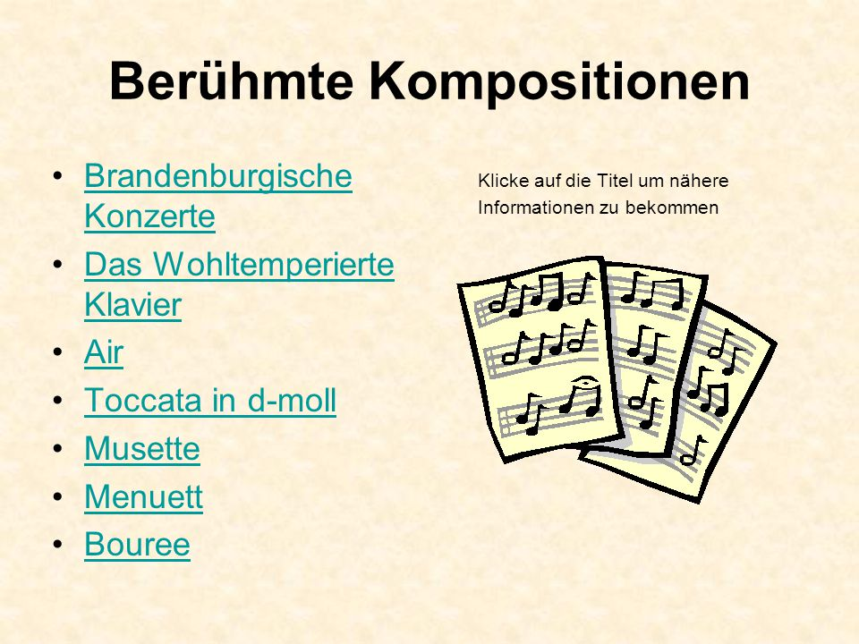 Berühmte Kompositionen