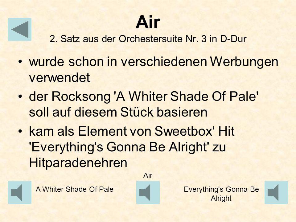 Air 2. Satz aus der Orchestersuite Nr. 3 in D-Dur