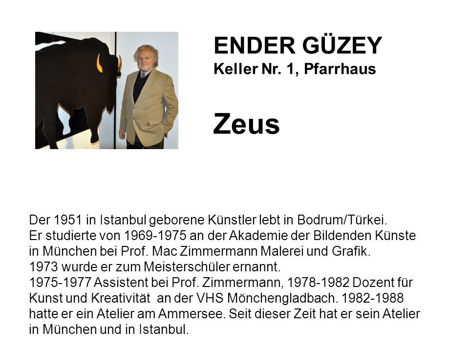Zeus ENDER GÜZEY Keller Nr. 1, Pfarrhaus