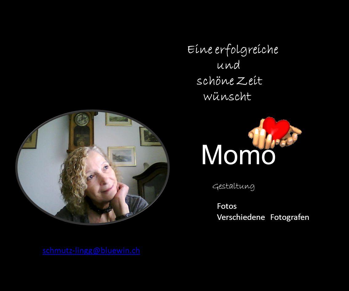 Momo Eine erfolgreiche und schöne Zeit wünscht Gestaltung Fotos