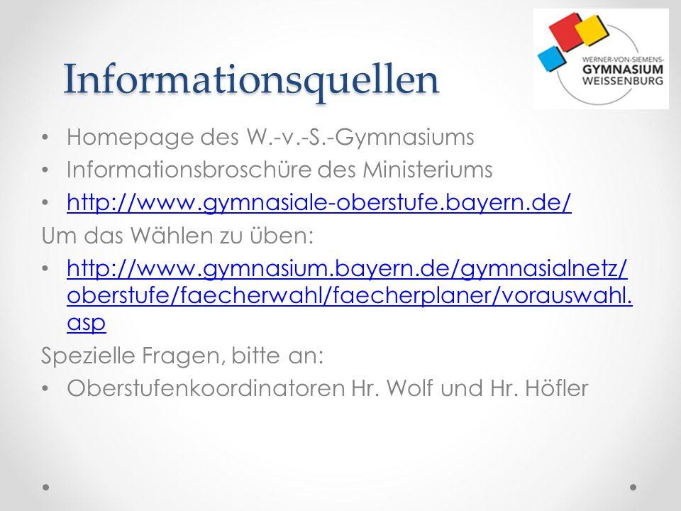 Informationsquellen Homepage des W.-v.-S.-Gymnasiums