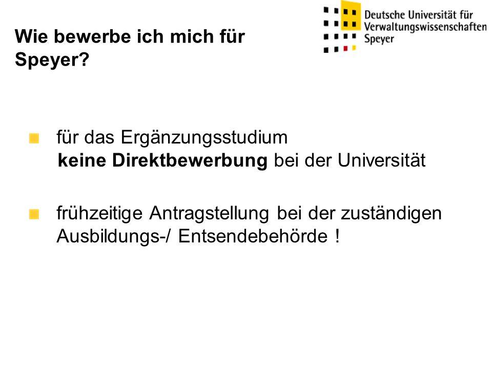 Wie bewerbe ich mich für Speyer