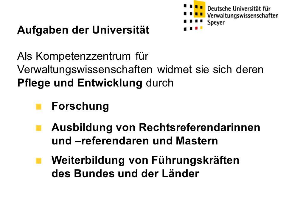 Aufgaben der Universität