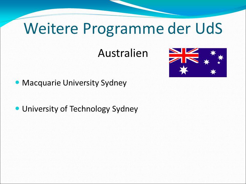 Weitere Programme der UdS
